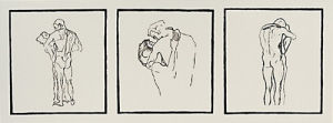 Love couples, 1905 (Silkscreen print) by Gustav Klimt