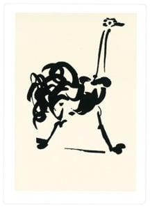 L'autruche (Silkscreen print) by Pablo Picasso
