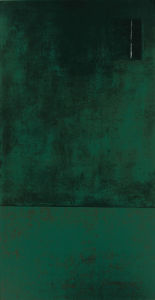 Untitled, 1991 (green) (Silkscreen print) by Jurgen Wegner