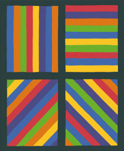 Color Bands in four Directions, 1999 by Sol LeWitt
