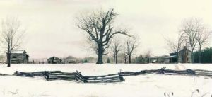 Late Snow at Riverwood (Detail) by Bob Timberlake