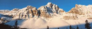 The Rocky Mountains in Banff National Park, Alberta by Richard Sisk