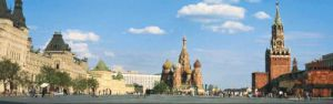 Red Square, St. Basil's Cathedral and the Kremlin, Moscow by Ron Klein