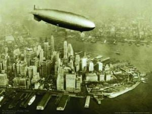 The Hindenburg Airship, 1936 by B & W Collection
