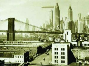 Airship N.Y.C., 1938 by B & W Collection