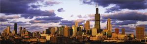Chicago Skyline at Sunset by Mark Segal