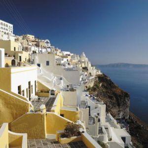 Thira, Santorini by Mike Kipling