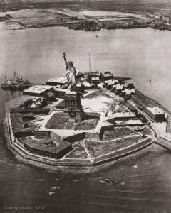 Liberty Island by B & W Collection