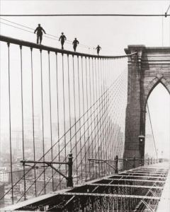 Brooklyn Bridge Climb, 1926 by B & W Collection