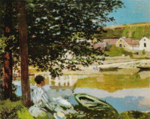The Seine at Bannecourt, 1868 by Claude Monet