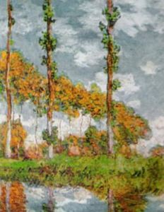 Poplars at Giverny by Claude Monet