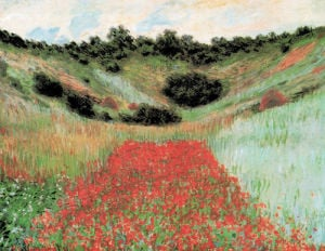 Field of Poppies at Giverny by Claude Monet