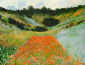 Field of Poppies at Vetheuil by Claude Monet
