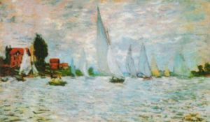 Regatta at Argenteuil in Bad Weather by Claude Monet