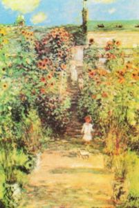 Monet's Garden at Vetheuil by Claude Monet