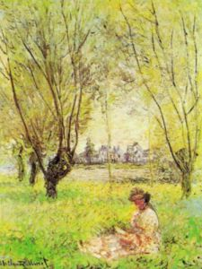 Woman under the Willow by Claude Monet