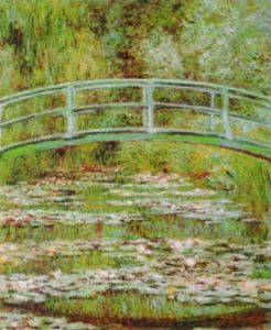 The Waterlily Pond and Japanese Bridge by Claude Monet