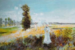 The Walk by Claude Monet