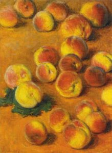Peaches by Claude Monet