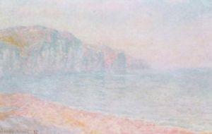 Cliffs at Pourville, Morning by Claude Monet