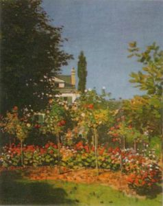 Garden in Bloom by Claude Monet