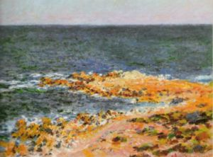 La Grande Bleue a Antibes, 1888 by Claude Monet