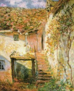 The Staircase by Claude Monet