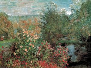 Corner of the Garden of Montgeron, or The Dahlias by Claude Monet