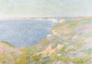 The Cliffs near Dieppe, 1897 by Claude Monet