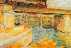 The Bridge of Asnieres by Vincent Van Gogh