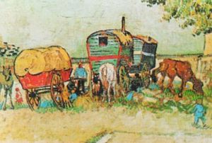 Gipsy Camp by Vincent Van Gogh
