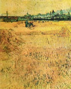 Oat Field with View of Arles by Vincent Van Gogh