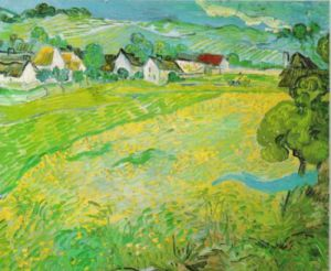 Sunny Meadow at Auvers, 1890 by Vincent Van Gogh