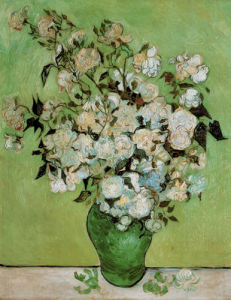 Vase of Roses, 1890 by Vincent Van Gogh