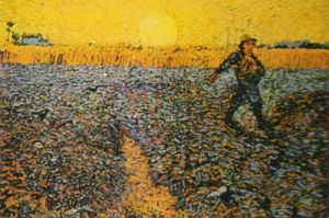 Sower with Setting Sun by Vincent Van Gogh