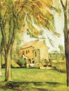 Chestnut-trees and Farm at Jas de Bouffan by Paul Cezanne