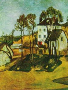 The Home of Dr.Gachet at Auvers by Paul Cezanne