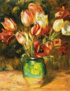 Tulips in a Vase by Pierre Auguste Renoir