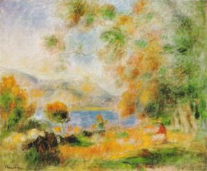 Near Cagnes by Pierre Auguste Renoir