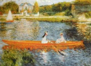 The Seine at Asnieres by Pierre Auguste Renoir