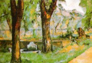 Basin and Fountain at Jas de Bouffan by Paul Cezanne
