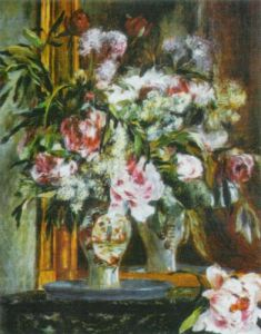 Peonies, Lilac and Tulips by Pierre Auguste Renoir