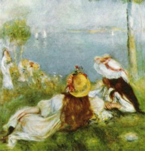 Girls by the Sea, 1894 by Pierre Auguste Renoir