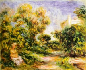 Woman in a Landscape by Pierre Auguste Renoir