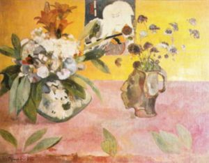 Flowers and a Japanese Print, 1889 by Paul Gauguin