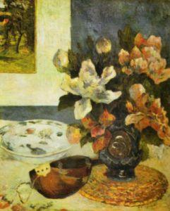 Still Life with Mandolin, 1885 by Paul Gauguin