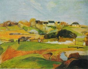 Landscape at the Pouldu by Paul Gauguin