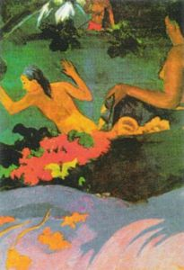 Tahitian Women Bathing, 1892 (detail) by Paul Gauguin