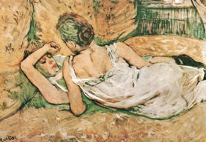 Friends by Henri de Toulouse-Lautrec