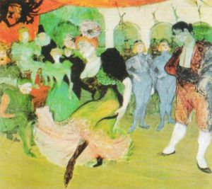 Dance at the Moulin Rouge, 1890 by Henri de Toulouse-Lautrec